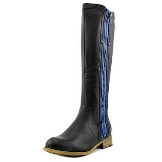 Luichiny Express Lane Women Round Toe Leather Knee High Boot