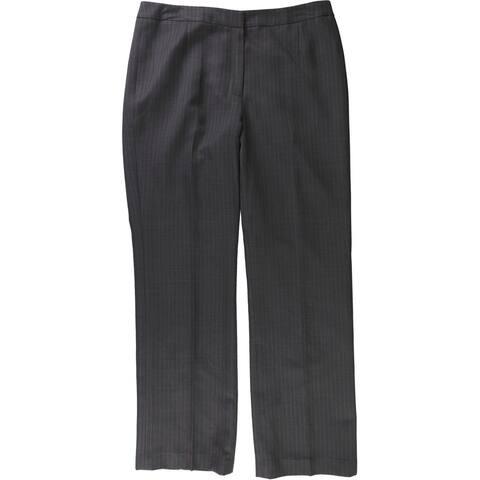Le Suit Womens Flat Front Dress Pants, Grey, 12