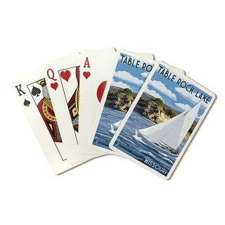 Table Rock Lake, Missouri - Sloop Sailboat & Lake - Lantern Press Artwork (Poker Playing Cards Deck)