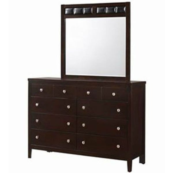 10 Drawers Luxury Dresser Mirror Storage set