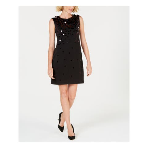 ALFANI Black Sleeveless Above The Knee Dress 12