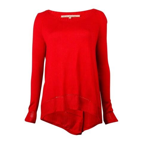 RACHEL Rachel Roy Women's Soft Knit Tulip-Back Sweater
