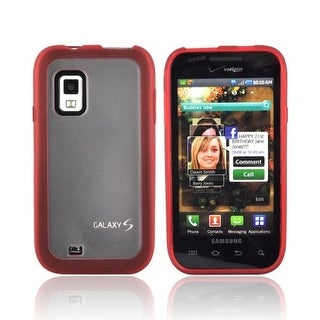 OEM Verizon Dual Cover Case for Samsung Fascinate SCH-I500 (Red/Clear) (Bulk Pac