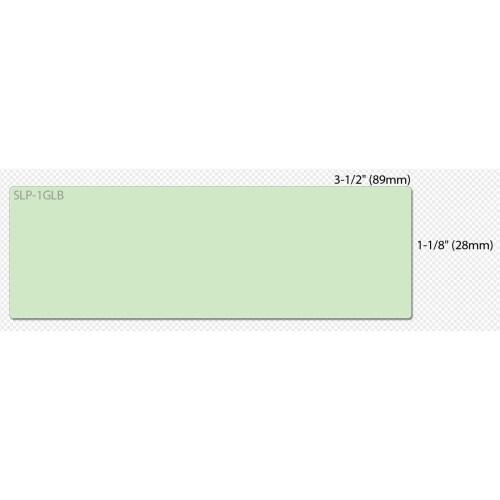 Seiko SLP-1GLB Seiko Address Label - 3.5 Inch Width x 1.12 Inch Length - 130/RollBox - Green