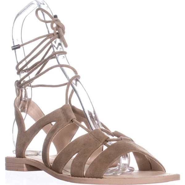 Rebecca Minkoff Greyson Gladiator Lace Up Sandals, Taupe - 8 us