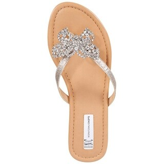 INC International Concepts Womens Maregoald Fabric Open Toe Casual Flip Flops...
