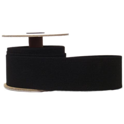 "CJ Des Choice Elastic Knit Reel 2""x8yd Black"