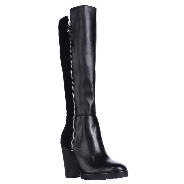 MICHAEL Michael Kors Clara Knee High Wedge Boots, Black