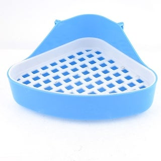 Unique Bargains Indoor Triangle Cat Dog Pet Toilet Blue White