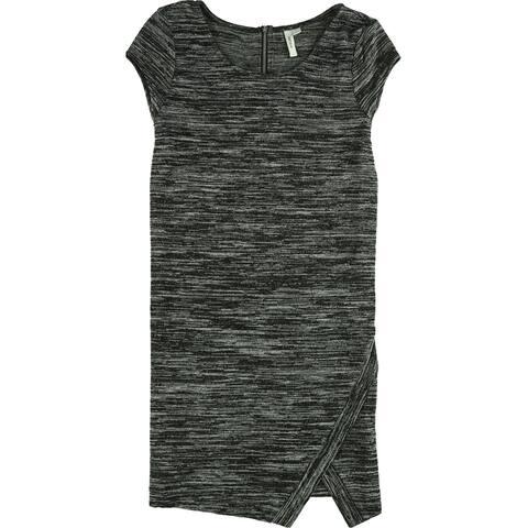 Kensie Womens Split-Front Shift Dress