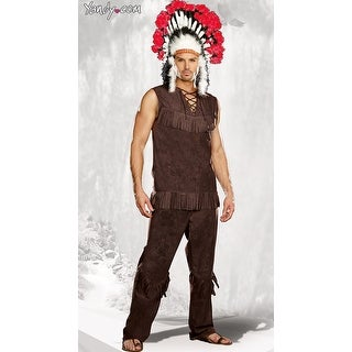 Chief Long Arrow Costume, Mens Indian Costume - Multi