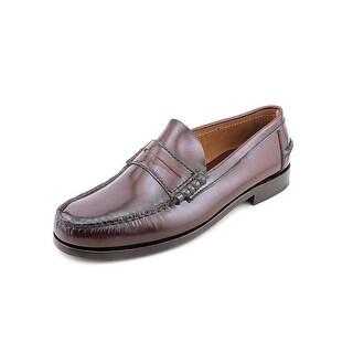 Florsheim Berkley Men  Moc Toe Leather Burgundy Loafer
