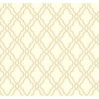 York Wallcoverings WA7713 Waverly Classics Hampton Trellis Wallpaper - ecru/buff