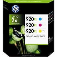 HP 920XL 3-Pack High Yield Colors D8J64BN