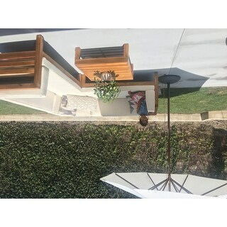 Safavieh Cannes 9 Ft White Wooden Outdoor Umbrella