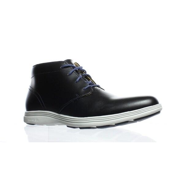 7e7db485e91c5 Shop Cole Haan Mens Grand Tour Black Ankle Boots Size 7.5 - Free ...