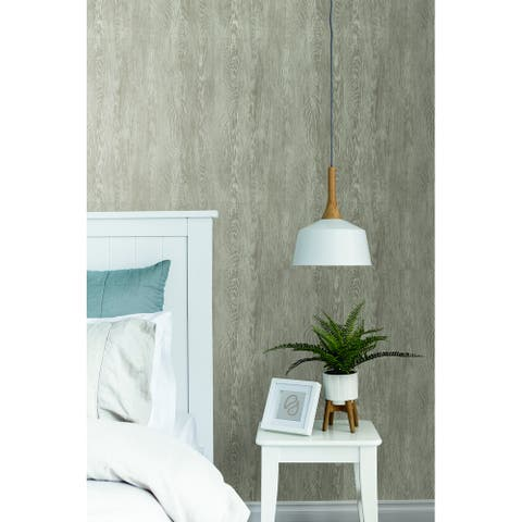 Martinez Quarter Sawn Wood Brown Wallpaper