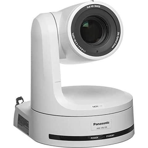 Panasonic AW-HN130 HD Integrated PTZ Camera with NDI HX (White)
