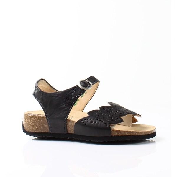 Think! NEW Black Women's Shoes Size 5.5M Mizzi Damen Leather Sandal