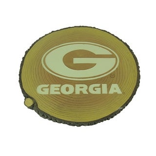 University of Georgia Bulldogs Glow In the Dark Tree Stump Stepping Stone - Yellow