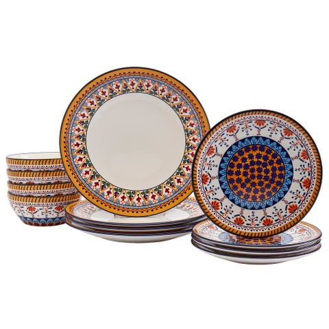 Tabletops Gallery 12PC Marseille Dinnerware Set - Service for 4