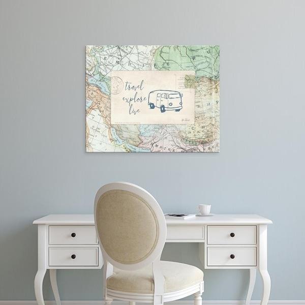 Easy Art Prints Katie Pertiet's 'Travel Posts II' Premium Canvas Art