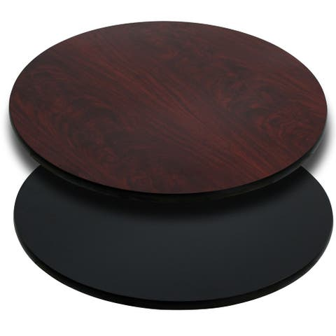 "36"" Round Table Top with Black or Mahogany Reversible Laminate Top"