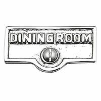 Switch Plate Tags DINING ROOM Name Signs Label Chrome Brass | Renovator's Supply