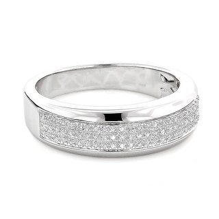 Link to Sterling Silver 1/5ct TDW Men's Pave Diamond Band Similar Items in Wedding Rings