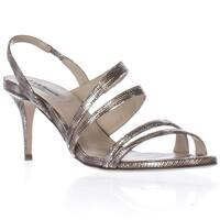 L.K. Bennett Addie Sling-Back Dress Heels Sandals, Silver - 6 us / 36.5 eu