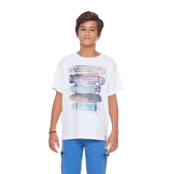 Tween Boy T-Shirt Graphic Tee Kids Skater Clothes Summer Pulla Bulla 10-16 Years