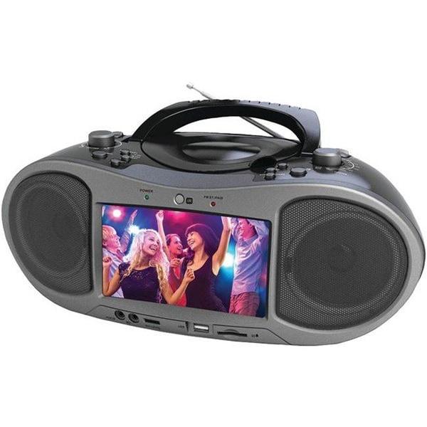 Naxa NDL-256 Bluetooth DVD Player, Gray - 7 in.