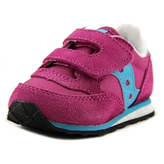 Saucony Baby Jazz HL Toddler Round Toe Suede Pink Sneakers