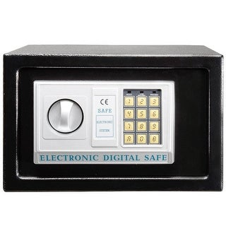 "Giantex 12"" Digital Electronic Keypad Lock Home Safe Box black"