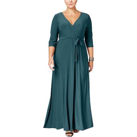 Love Squared Womens Surplice Maxi Dress