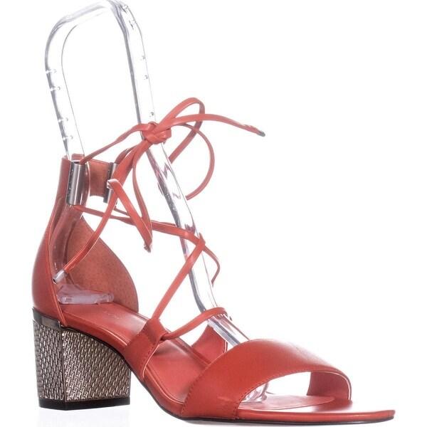 Calvin Klein Natania Lace-Up Dress Sandals, Deep Blush - 9 us / 39 eu