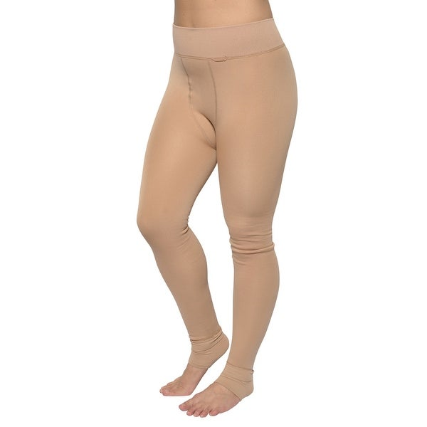 28f5684432a Shop Women s Warm Winter Stirrup Leggings Medium Skin Color - Free ...