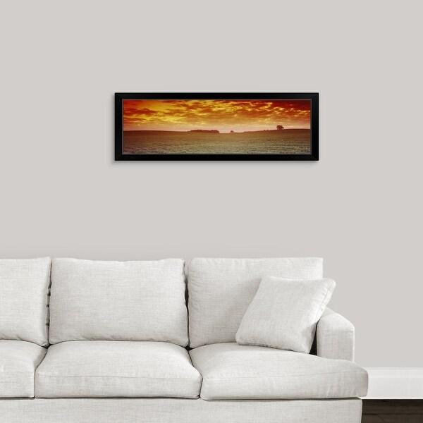 """Clouds over a soybean field, Albert Lea Township, Freeborn County, Minnesota"" Black Framed Print"