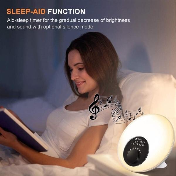 Tekjoy wake-up lamp alarm clock LED digital wake-up alarm clock