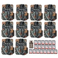 Browning Strike Force Dual Lens Trail Camera (10) with 16GB Card (20) and Reader - Camouflage