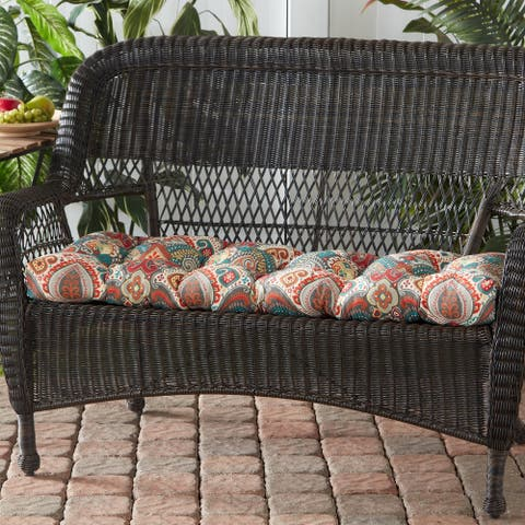 Greendale Home Fashions Global 44-inch Outdoor Swing/Bench Cushion
