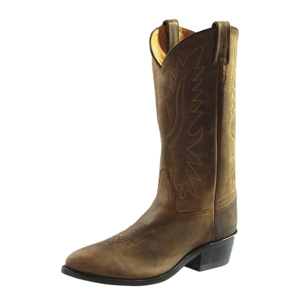 Old West Cowboy Boots Mens Round Goodyear Neolite Apache