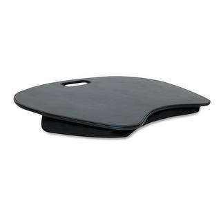 Handstands  Laptop Lapmat Black Faux Leather Lap Desk