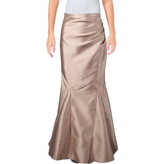 Belle Badgley Mischka Womens Mercedes Mermaid Skirt Metallic Long