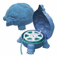 0.625 in. Darwin Tortoise Deluxe Hose Hider With Hose Reel - Patina