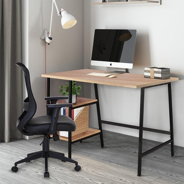 VECELO Reclaimed Wood Computer Desk/Student Desk. Opens flyout.
