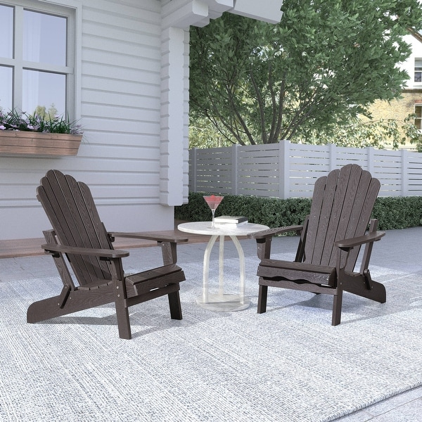 Haven Folding Poly Resin Plastic Adirondack Chair, Set of 2. Opens flyout.