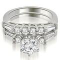 1.85 cttw. 14K White Gold Baguette and Round Diamond Bridal Set - Thumbnail 0