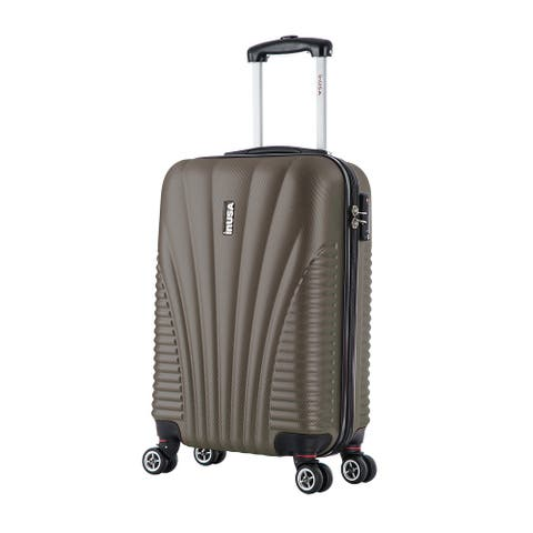 InUSA Chicago lightweight hardside spinner 21 inch carry-on-Brown