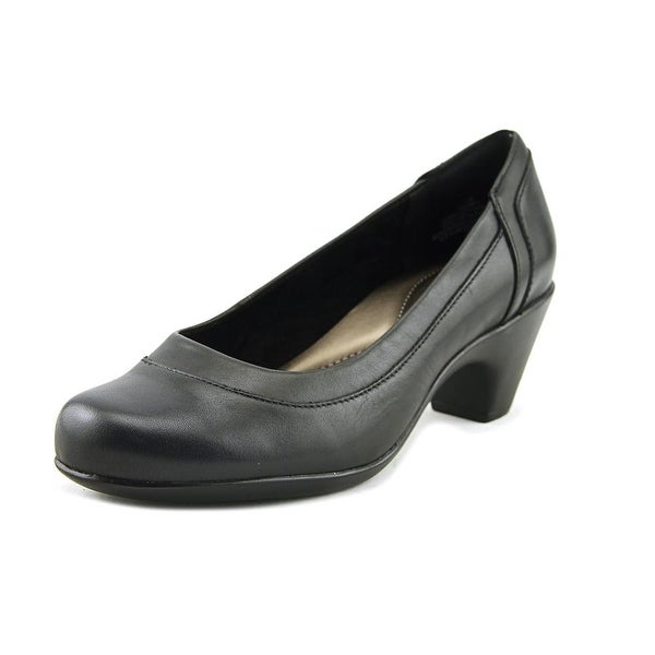 Easy Spirit Carmela W Round Toe Leather Heels